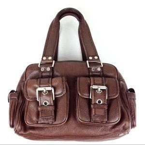 Michael Kors Brown Leather Satchel @